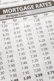 Newspaper Mortgage Rate Royalty Free Stock Images