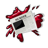 Newspaper murder icon Royalty Free Stock Image