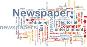 Newspaper news background concept Royalty Free Stock Images