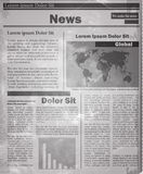 Newspaper news flat image Stock Images