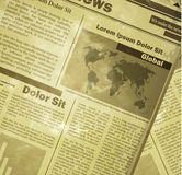 Newspaper news flat image. Background news vector. Old vintage style could be used for your design Stock Photo