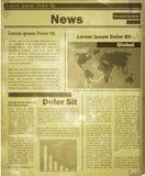 Newspaper news flat image Stock Photo