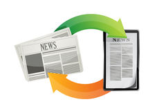 Newspaper news media concepts Stock Images