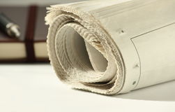 Newspaper and Notebook Stock Photography