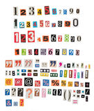 Newspaper numbers and symbols. Against white background Royalty Free Stock Image