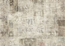 Newspaper with old grunge vintage unreadable paper texture background