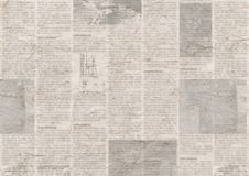 Newspaper with old grunge vintage unreadable paper texture background. Newspaper with old unreadable text. Vintage grunge blurred paper news texture horizontal royalty free stock photography