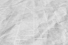 Newspaper with old vintage unreadable paper texture background royalty free stock photos
