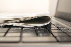 Newspaper online Stock Photo