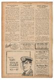 Newspaper page english text advertising pictures Vintage magazin Royalty Free Stock Image