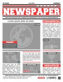 Newspaper page template vector illustration