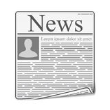 Newspaper. Page on white background, vector eps10 illustration Royalty Free Stock Photography