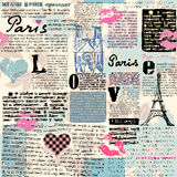 Newspaper Paris with a kisses Royalty Free Stock Image