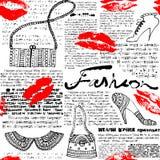 Newspaper pattern Fashion Stock Image