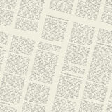 Newspaper pattern Royalty Free Stock Photography