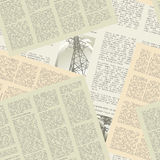 Newspaper pattern seamless Stock Photo