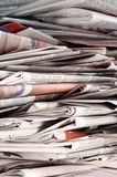 Newspaper pile Royalty Free Stock Image