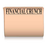 Newspaper pink financial Royalty Free Stock Image