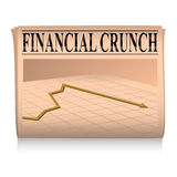 Newspaper pink financial graph Royalty Free Stock Photography