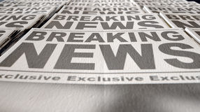 Newspaper Press Run End Royalty Free Stock Images