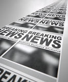 Newspaper Press Run Stock Image