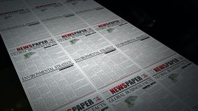 Newspaper printing animation stock video