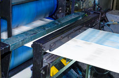 Newspaper printing machine Stock Photos