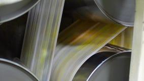 Newspaper printing machine stock footage