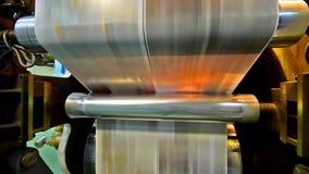 NEWSPAPER PRINTING PRESS MACHINE stock video footage