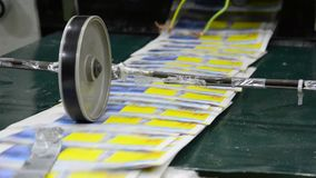 Newspaper printing press stock video