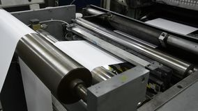 Newspaper printing in print shop stock footage