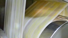 Newspaper printing stock video