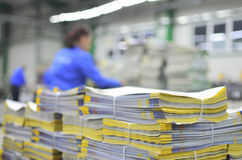 Newspaper production line Royalty Free Stock Photos