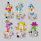 Newspaper readers Stock Image