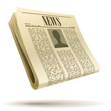 Newspaper realistic illustration Royalty Free Stock Images