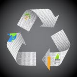 Newspaper Recycle Royalty Free Stock Images