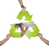 Newspaper recycling Royalty Free Stock Photography