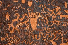 Newspaper Rock. Stock Photo