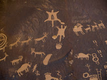 Newspaper Rock royalty free stock images