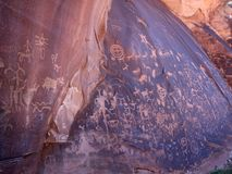 Newspaper Rock in Canyonlands Stock Image