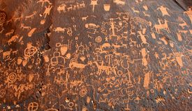 Newspaper Rock.      Newspaper Rock State Historic Royalty Free Stock Photography