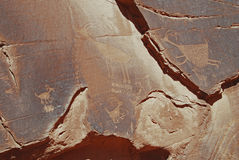 Newspaper Rock. Petroglyph, seen in Monument Valley Navajo Tribal Park Royalty Free Stock Image