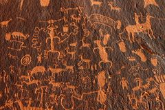 Newspaper Rock Petroglyphs Stock Photo