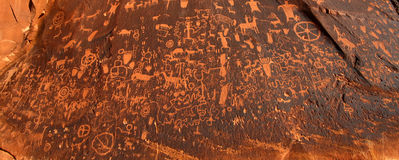 Newspaper Rock Petroglyphs in Utah Royalty Free Stock Photography