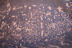 Newspaper Rock in Utah Stock Photos