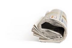 Daily newspaper roll Stock Photo