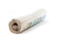 Newspaper roll Stock Photography