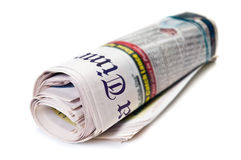 Newspaper roll Royalty Free Stock Images