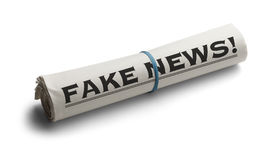 Newspaper Roll Fake News Royalty Free Stock Photos