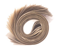Newspaper Roll Isolated Royalty Free Stock Photo